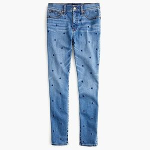 J. Crew | High-Rise Toothpick Polka Dot Jeans 25